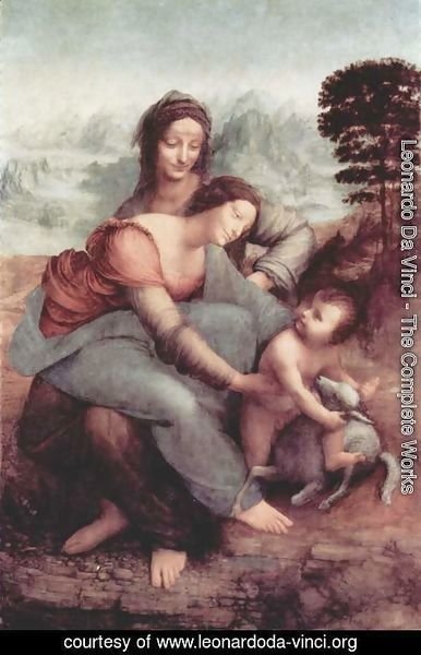 Leonardo Da Vinci - The Virgin and Child with St Anne c. 1510