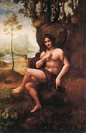 Leonardo Da Vinci - St John in the Wilderness (Bacchus) 1510-15
