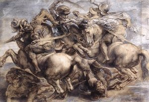 Leonardo Da Vinci - The Battle of Anghiari (detail) 1503-05
