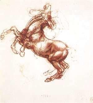 Leonardo Da Vinci - Rearing Horse