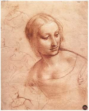 Leonardo Da Vinci - Study For Madonna With The Yarnwinder