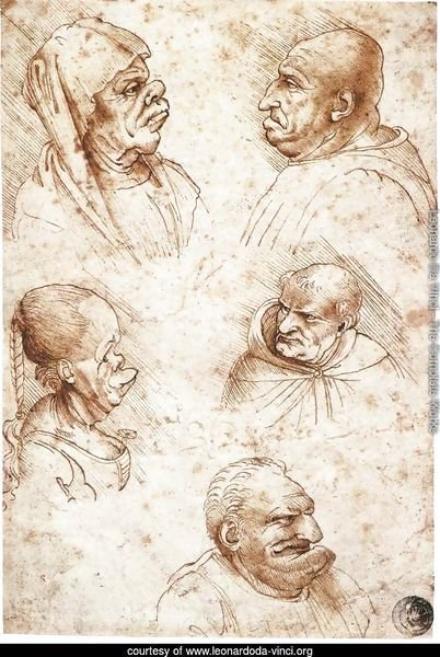 Five Caricature Heads