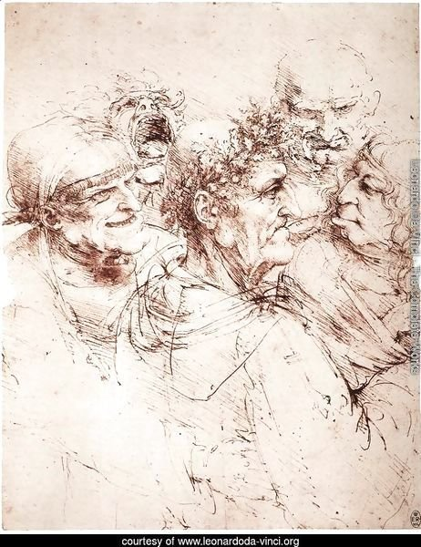 Study Of Five Grotesque Heads