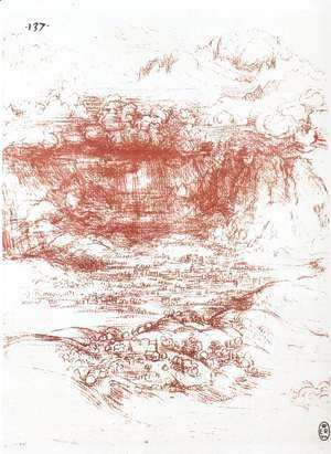 Leonardo Da Vinci - Storm Over A Landscape