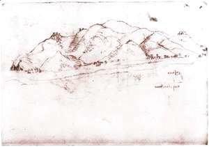 Leonardo Da Vinci - Landscape Near Pisa