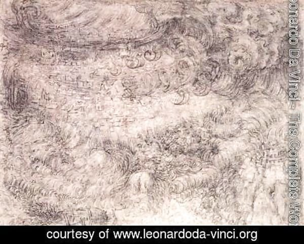 Leonardo Da Vinci - Deluge Over A City