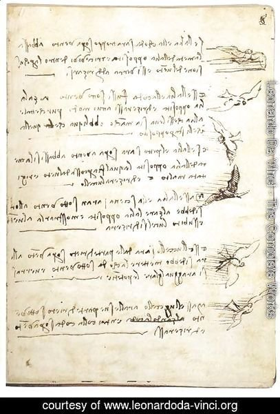 Leonardo Da Vinci - Codex On The Flight Of Birds
