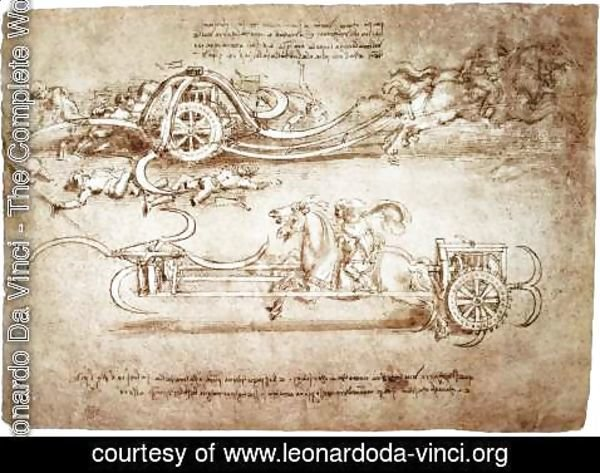 Leonardo Da Vinci - Assault Chariot With Scythes
