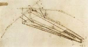 Leonardo Da Vinci - Drawing Of A Flying Machine
