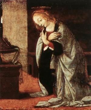 Leonardo Da Vinci - Annunciation (detail 2) 1478-82