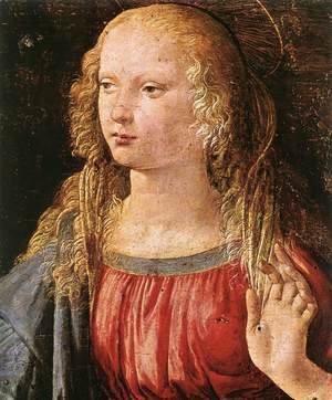 Leonardo Da Vinci - Annunciation (detail 3) 1472-75