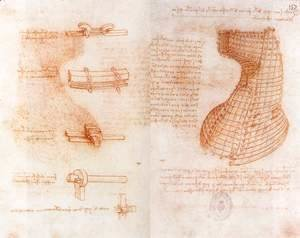 Double manuscript page on the Sforza monument c. 1493