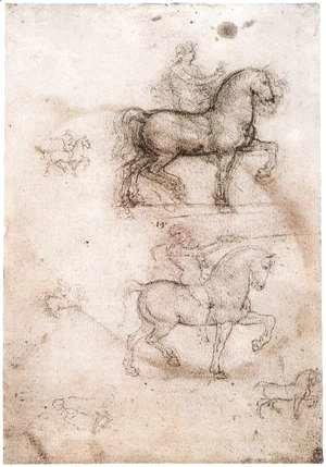 Leonardo Da Vinci - Equestrian monument 1517-18