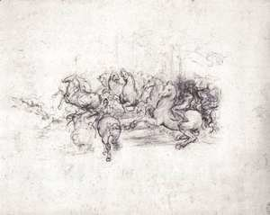 Leonardo Da Vinci - Group of riders in the Battle of Anghiari 1503-04