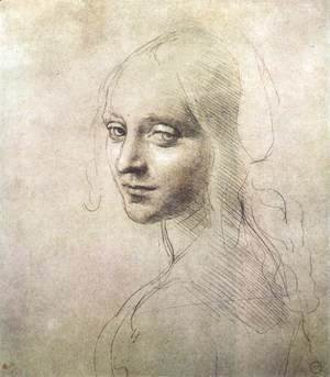 Leonardo Da Vinci - Head of a girl c. 1483