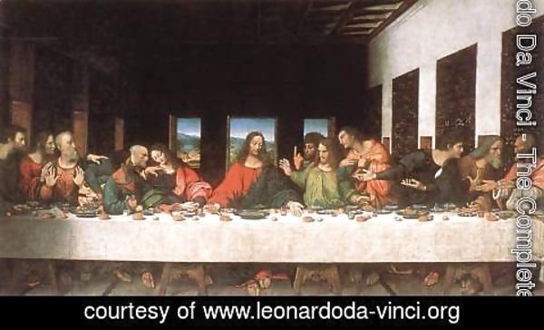 Leonardo Da Vinci - Last Supper (copy) 16th century