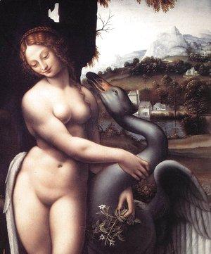 Leonardo Da Vinci - Leda (detail) 1508-15