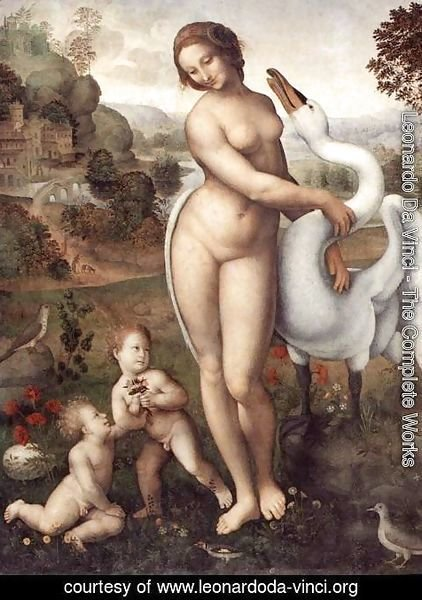 Leonardo Da Vinci - Leda and the Swan 1505-10