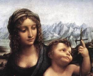 Leonardo Da Vinci - Madonna with the Yarnwinder (detail) after 1510