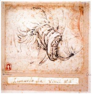 Leonardo Da Vinci - Sleeve study for the Annunciation 1470-73