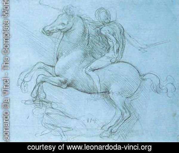 Leonardo Da Vinci - Study for the Sforza monument 1488-89