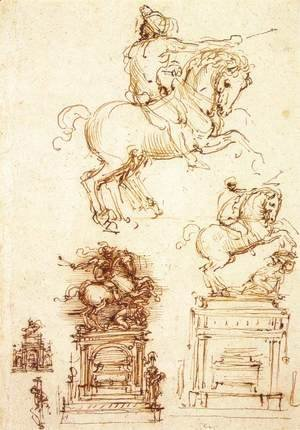 Study for the Trivulzio Equestrian Monument (1)  1508-10