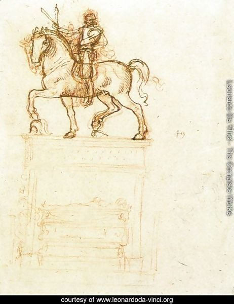 Study for the Trivulzio monument (2)  1508-12