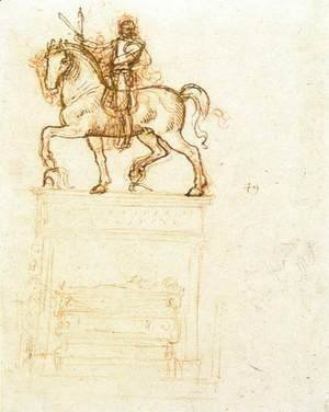 Leonardo Da Vinci - Study for the Trivulzio monument (2)  1508-12