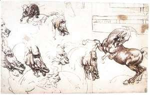 Leonardo Da Vinci - Study of horses for the Battle of Anghiari 1503-04