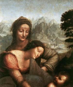 Leonardo Da Vinci - The Virgin and Child with St Anne (detail 1) c. 1510