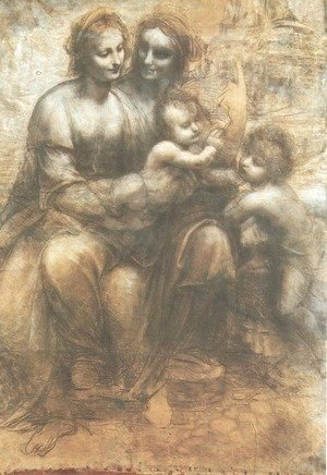 Leonardo Da Vinci - Virgin and Child with St. Anne and the Infant of St. John (Sant'Anna, la Vergine, il Bambino e san Giovannino)